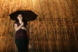 Anna in the rain